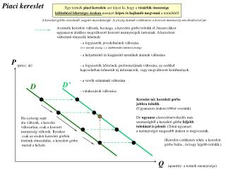 Egy term k piaci kereslete azt fejezi ki, hogy a v s rl k  sszess ge k l nb zo lehets ges  rakon mennyit k pes  s hajlan