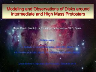 Modeling and Observations of Disks around intermediate and High Mass Protostars