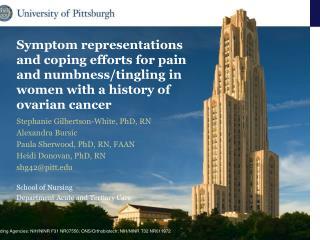 Stephanie Gilbertson-White, PhD, RN Alexandra  Bursic Paula Sherwood, PhD, RN, FAAN