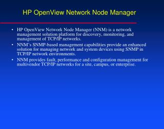 HP OpenView Network Node Manager