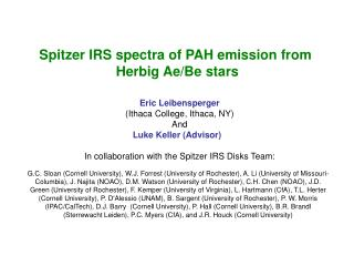 Spitzer IRS spectra of PAH emission from  Herbig Ae/Be stars