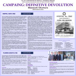 CAMPAING: DEFINITIVE DEVOLUTION