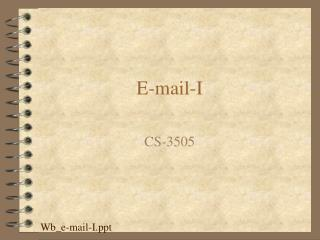 E-mail-I