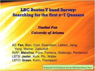LBC Bootes Y band Survey: Searching for the first z~7 Quasars