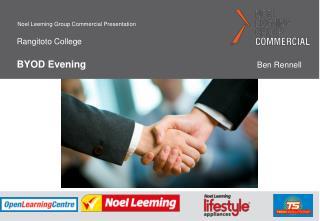 Rangitoto College BYOD Evening   Ben Rennell