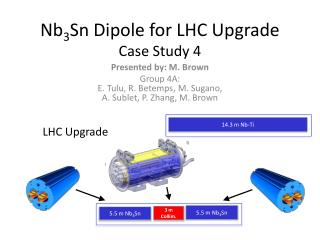 Nb 3 Sn Dipole for LHC Upgrade Case Study 4