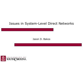Issues in System-Level Direct Networks