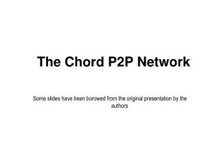 The Chord P2P Network