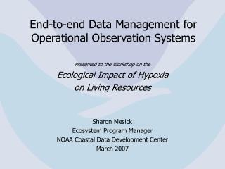 End-to-end Data Management for Operational Observation Systems