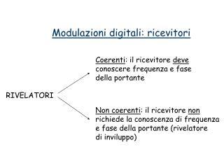 Modulazioni digitali: ricevitori