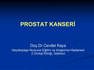 PROSTAT KANSERİ