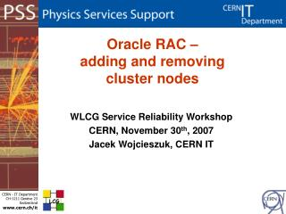 Oracle RAC –  adding and removing  cluster nodes