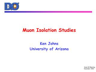Muon Isolation Studies