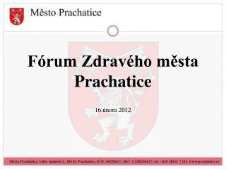 Fórum Zdravého města Prachatice