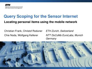 Query Scoping for the Sensor Internet