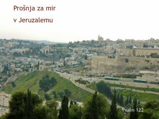 Prošnja za mir  v Jeruzalemu