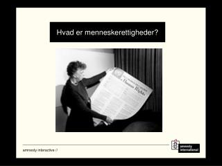 Hvad er menneskerettigheder?