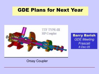 GDE Plans for Next Year