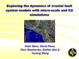Exploring the dynamics of crustal fault system models with micro-scale and CA simulations