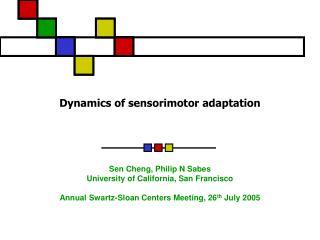 Dynamics of sensorimotor adaptation