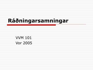 Ráðningarsamningar