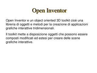 Open Inventor
