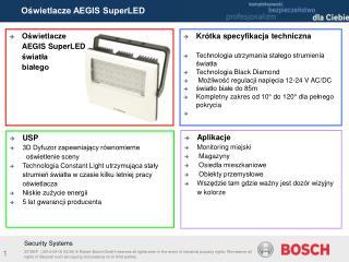 Oświetlacze  AEGIS SuperLED światła  białego