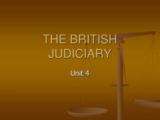 THE BRITISH JUDICIARY