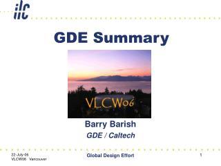 GDE Summary
