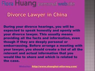 Big Advantage of divorce lawyer in China