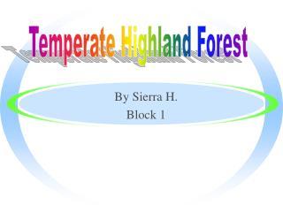 By Sierra H. Block 1