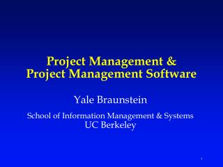 Project Management & Project Management Software