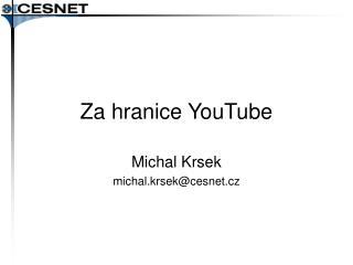 Za hranice YouTube