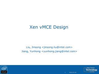 Xen vMCE Design