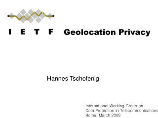 Geolocation Privacy