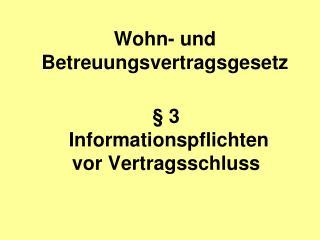 Wohn- und Betreuungsvertragsgesetz
