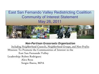 East San Fernando Valley Redistricting Coalition Community of Interest Statement May 26, 2011