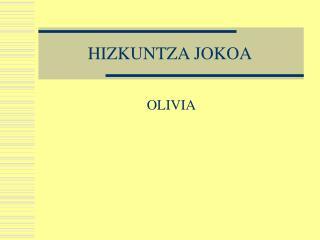 HIZKUNTZA JOKOA