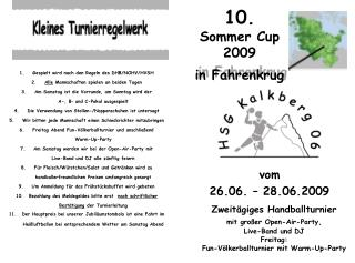 10. Sommer Cup  2009