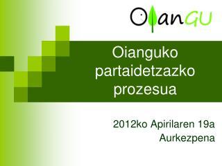Oianguko  partaidetzazko prozesua