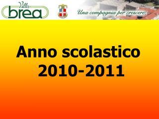 Anno scolastico 2010-2011