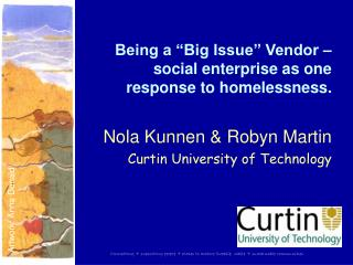 "Being a ""Big Issue"" Vendor – social enterprise as one response to homelessness."