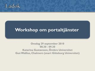 Workshop om portaltjänster