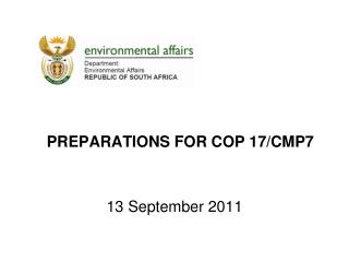 preparations for COP 17/CMP7