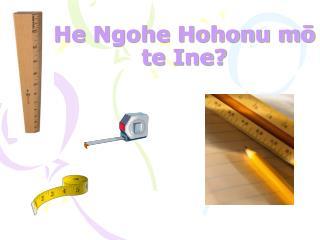 He Ngohe Hohonu m? te Ine?