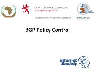 BGP Policy Control