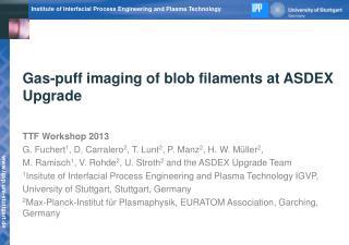 Gas-puff imaging of blob filaments at ASDEX Upgrade