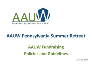 AAUW  Pennsylvania Summer Retreat