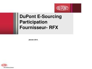 DuPont E-Sourcing  Participation Fournisseur- RFX