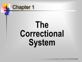 The  Correctional System